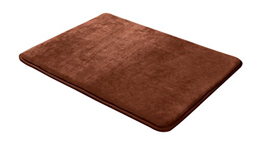 Memory foam bathrug chocolate brown bath mat and shower rug large 20 x 32 inches non slip for Chocolate brown bathroom rugs