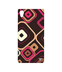 Vogueshell Box Pattern Printed Symmetry PRO Series Hard Back Case for Sony Xperia M4 Aqua