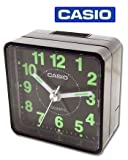 Casio TQ140-1 Travel Quartz Beep Alarm Clock (Black)