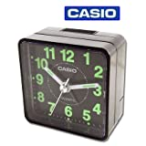 CASIO TQ140 Travel Alarm Clock - Black ~ Casio