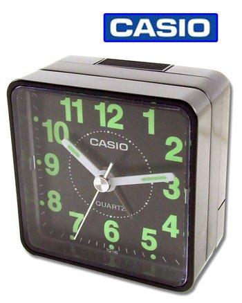CASIO TQ140 Travel Alarm Clock - Black