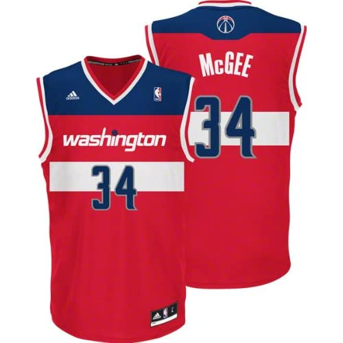 Amazon.com : JaVale McGee Jersey: adidas Red Replica #34 Washington