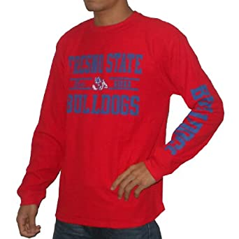 NCAA Fresno State Bulldogs Mens Long Sleeve Pullover Sweater Jersey by NCAA