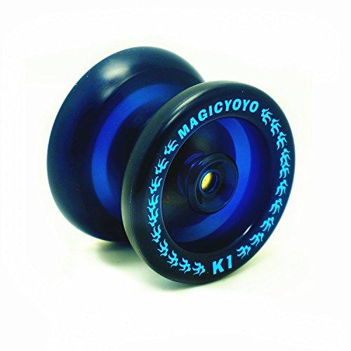 MAGICYOYO YoYo Boule K1 Spin yoyo professionnel en ABS Jouet de Plein air(Bleu)