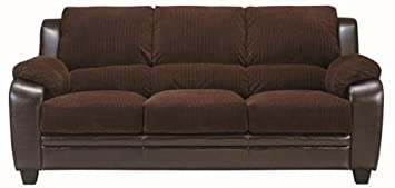Coaster Home Furnishings 502811 Casual Sofa, Chocolate