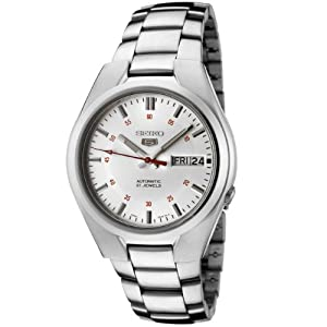 Seiko Men's SNK613 Seiko 5 Automatic Silver Dial Stainless Steel Watch