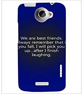 PrintDhaba Quote D-3287 Back Case Cover for HTC ONE X (Multi-Coloured)