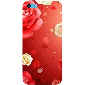 Casotec Red Rose Design Hard Back Case Cover for Apple iPhone 5C