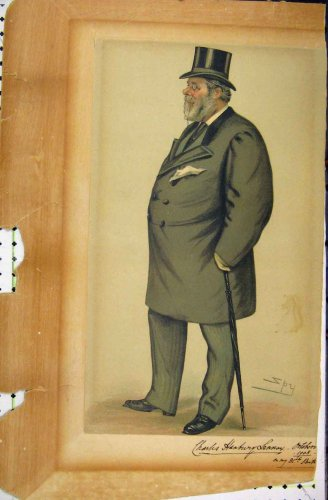 1908 Vanity Fair Cartoon Charles Lennox Spy Artist