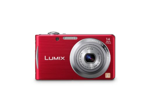 Black Friday Panasonic Lumix DMC-FH2 14.1 MP Digital Camera with 4x Optical Image Stabilized Zoom with 2.7-Inch LCD (Red) Deals