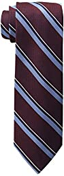 Tommy Hilfiger Men\'s Grenadine Rep Stripe Tie, Burgundy, One Size