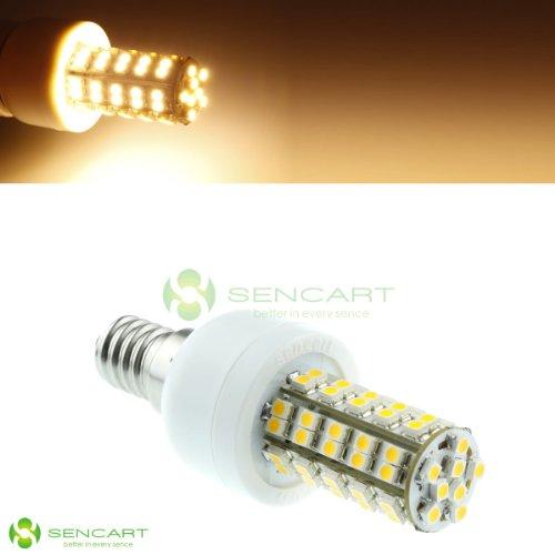 E14 68Smd 3528 Led 85~265V/4W 3500K Warm White Light Bulbs