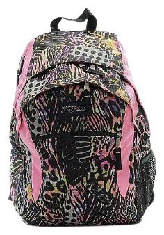 JanSport Wasabi Backpack, Pink Pansy Muted Safari
