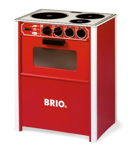 Brio Red Stove front-435462