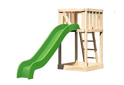 Karibu Spielturm Ronja SPARSET inkl. Schaukelanbau, Schaukelanker und Rutsche
