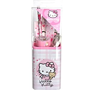 Hello kitty - Set Scolaire Avec Pot A Crayons Hello Kitty
