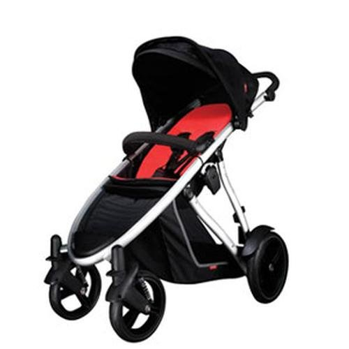 phil&teds Verve Stroller, Black/Red