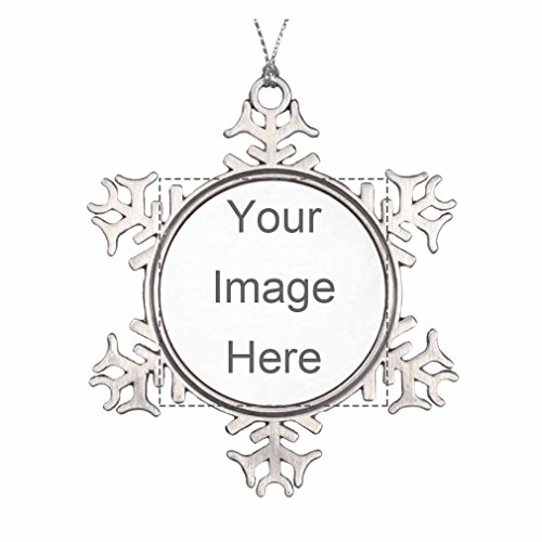 Design Printable Christmas Ornament Add Your Own Picture or Text Custom PersonalizedPewter Snowflake Ornament (Snowflake Picture Frame compare prices)