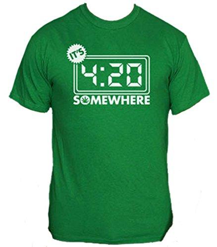 Its-420-Somewhere-T-Shirt-Funny-Pot-Smoking-Shirt-MEDIUM-GREEN