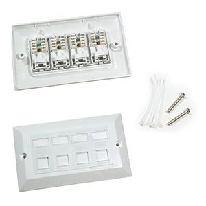 Cablefinder Prise murale avec 4 ports Ethernet RJ45 Cat6