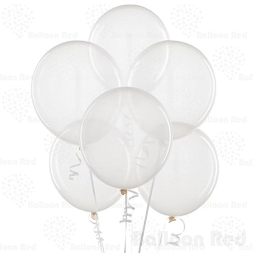 12 Inch Latex Balloons (Premium Helium Quality), Pack of 100, Clear