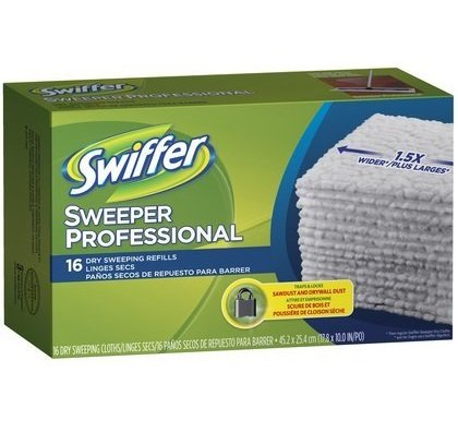 Swiffer Sweeper Professional X-Large Dry Sweeping Cloths Mop and Broom Floor Cleaner Refill (Quantity of 5) kitpag02363pag82027 value kit procter amp gamble professional floor and all purpose cleaner pag02363 and mr clean magic eraser foam pad pag82027