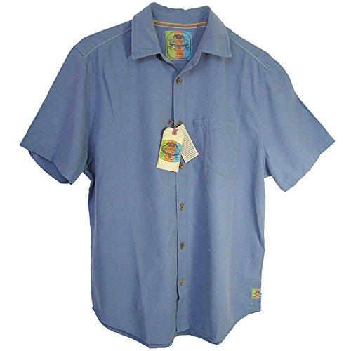 Margaritaville Mens 'Short Sleeve BBQ - Tarpon' Button-Down Shirt, Sky Blue, L