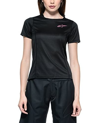 Alpinestar Cycling T-Shirt Manica Corta Stella Krypton  [Nero]