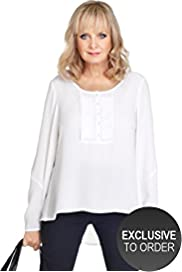 Twiggy for M&S Woman Bib Front Pleated Military Shirt