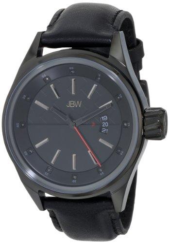 JBW  J6287A - Reloj de cuarzo para hombre, con correa de cuero, color negro