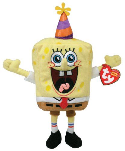 Ty Beanie Baby - SpongeBob Birthday - SpongeBob with Party hat