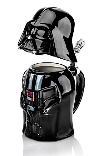 Star Wars Darth Vader Stein - Collectible 22oz Ceramic Mug with Metal Hinge