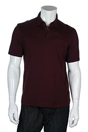 Alfani Red Golf Polo Shirt, Size Medium