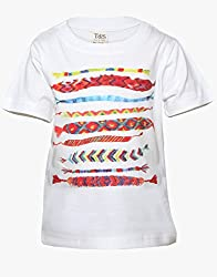Tales & Stories White Toffy Print T-Shirt