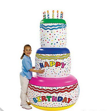 Giant 6 Ft. Inflatable Birthday Cake front-911663