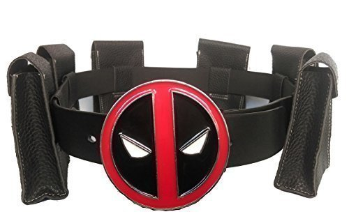 Men's Deadpool Cosplay Belt with Metal Buckle Halloween Costume