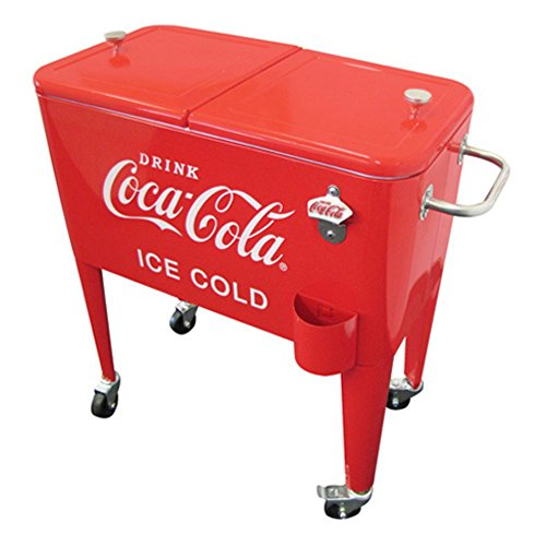 Leigh Country Retro Metal Coca-Cola Cooler, 60 quart 0