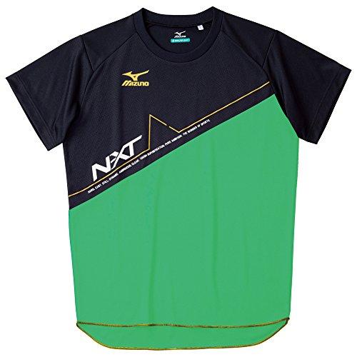 (ミズノ)MIZUNO 陸上競技 プラクティスシャツ U2MA5083 35 クラシックグリーン×ブラック×イエロー M