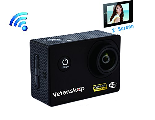Vetenskap Intelligent WIFI FHD 1080P 2.0 Inch Screen Digital Sports Action Camera, 30M Waterproof 12MP CMOS Camcorder with FREE Accessories, Independent Apps and 4X Zoo (Thermal Video Camera Cmos compare prices)