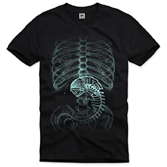 style3 Xenomorph Xénomorphe Alien T-Shirt Homme, Taille:S