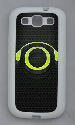 Coolest Case 3D Headphones Tpu White Case/Cover For Samsung Galaxy S3 I9300