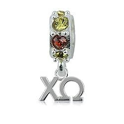 Chi Omega Spirit Charm Bead