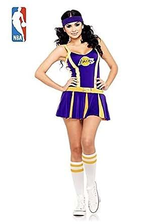 Lakers Cheerleader Adult Costume Size Medium/Large (10-14)