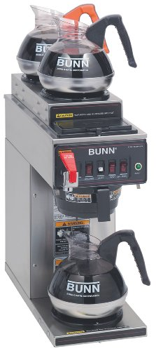 Bunn 12950.0253 CWTF35-3 Automatic Commercial Coffee Brewer with 3 Warmers