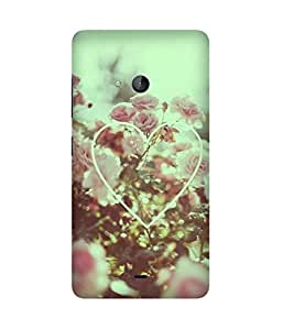 Vintage Flowers Heart Printed Back Cover Case For Microsoft Lumia N540