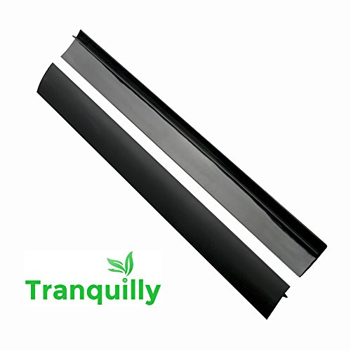 Tranquilly Silicone Stove Counter Gap Covers Black (2 Pack) (Kenmore Oven Burner compare prices)