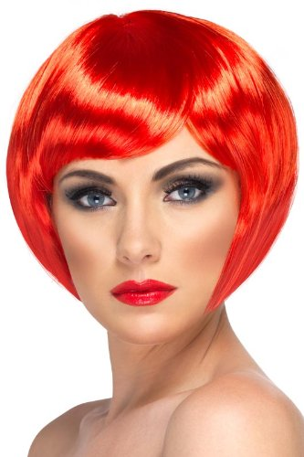 Smiffy'S Babe Wig, Red, One Size