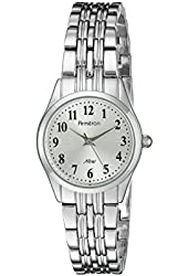 Armitron Women's 75/5304SVSV Easy-to-Read Silver-Tone Bracelet Watch