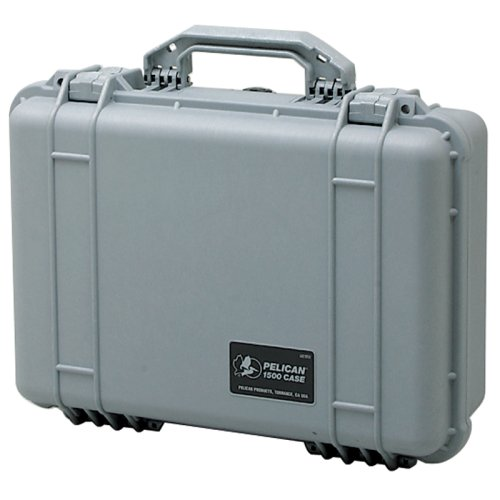 Pelican 1500 Case with Foam for Camera - SilverB0000DYVA9