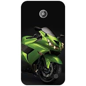 Nokia Lumia 630 Back Cover - Green Bike Designer Cases
